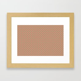Cavern Clay SW 7701 and Accent Colors Large and Small Polka Dots on Ligonier Tan SW 7717 Framed Art Print