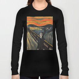 The Silence - When The Doctor Meets Munch Long Sleeve T-shirt