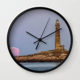 Moonlite mirage and the north tower Wall Clock