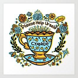 Poison of Choice: Cyanide TeaCup Art Print
