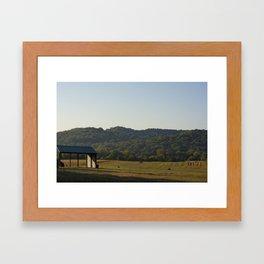 Fields of Farmers Framed Art Print