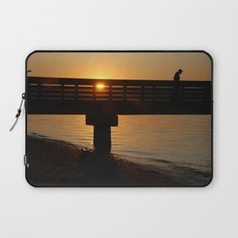 Dock at sunset Laptop Sleeve