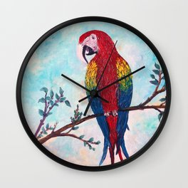 Polly Want A Cracker? Wall Clock