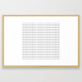 City Grid Framed Art Print