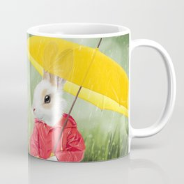 It's raining, little bunny! Coffee Mug