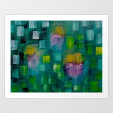 Garden in the Rain Art Print