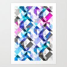 Aztec Geometric I Art Print