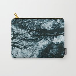 Blue Winter Trees Carry-All Pouch