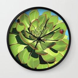 Aeonium Wall Clock