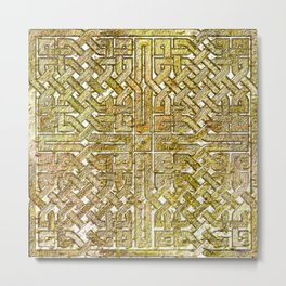 Gold Celtic Knot Square Metal Print