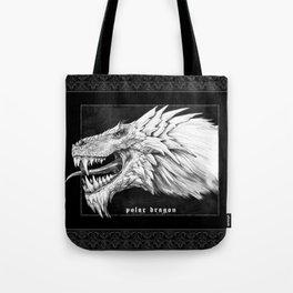 Polar dragon portrait, black Gothic edition Tote Bag