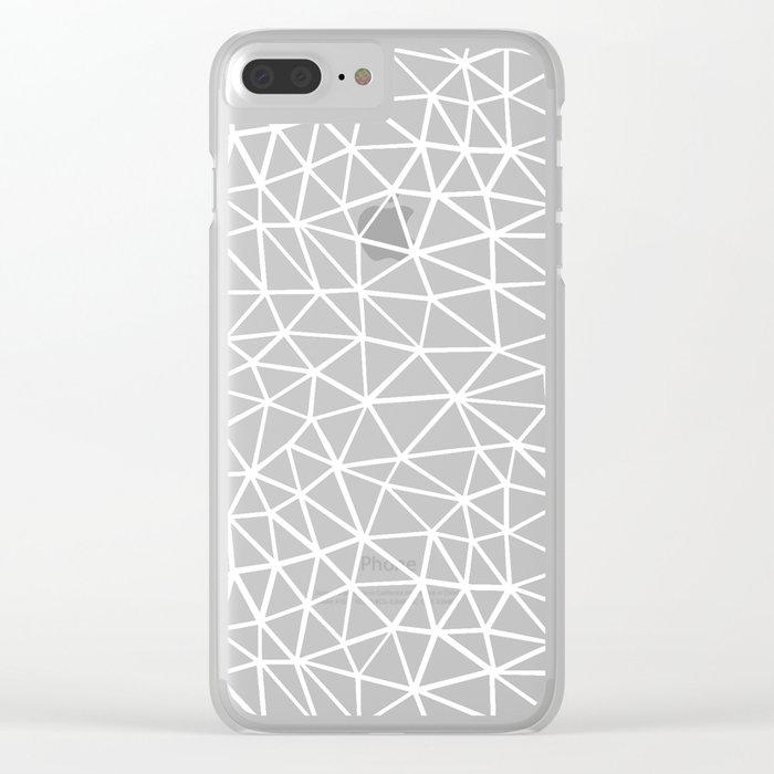 Seg R Black Clear iPhone Case