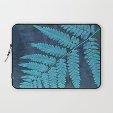 From the forest - light blue on lavender Laptop Sleeve
