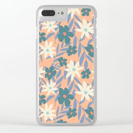 Just Peachy Floral Clear iPhone Case