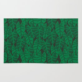 Elephant Ear house plant tropical garden green minimal pattern Rug