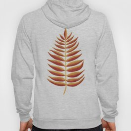 Gold and Copper Palm Leaf Hoody