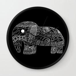 Black Elephant EcoPet Wall Clock