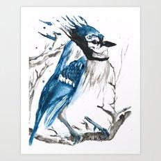 True Blue Jay Art Print