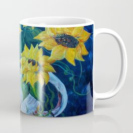 Sunflowers in a Country Pot Coffee Mug