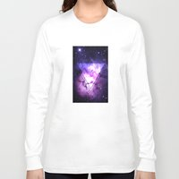 outer space Long Sleeve T-shirts featuring Outer Space by Erick Navarro