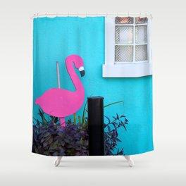 Folly Flamingo Shower Curtain