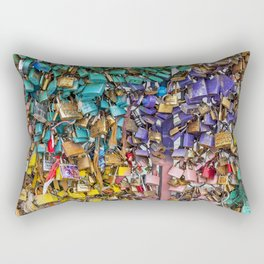 Pastel colored love locks in Paris | Noriko Aizawa Buckles Rectangular Pillow