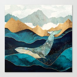 Blue Whale Canvas Print