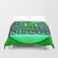 astrology Duvet Covers featuring Pisces Zodiac Sign Astrology by CAP Artwork & Design