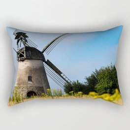 North German windmill from old time Rectangular Pillow