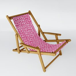 Hand Knit Hot Pink Sling Chair