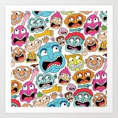 Weird Faces Art Print