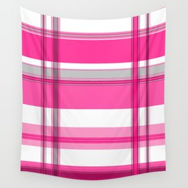 Shades of Pink and White II Wall Tapestry