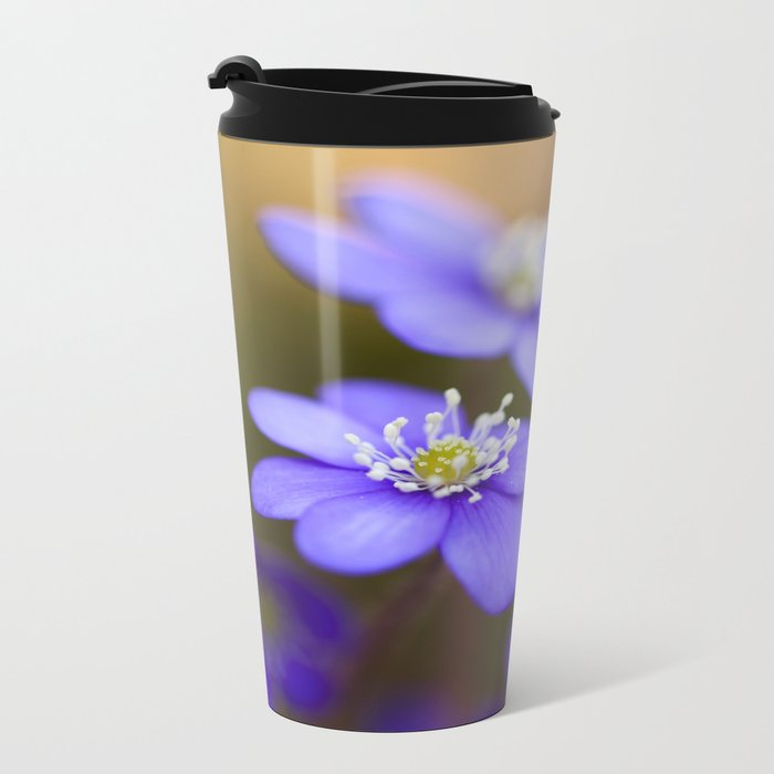Happy Together Blue Anemones In Forest #decor #Society6 Metal Travel Mug