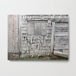 Weathered Barn  Metal Print