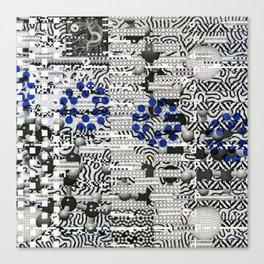 Nagging Little Virtual Elements (P/D3 Glitch Collage Studies) Canvas Print