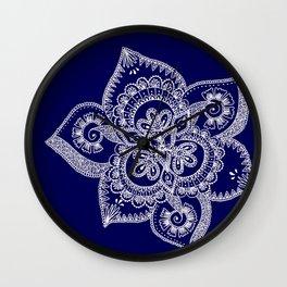 Mendhi Doodle Wall Clock