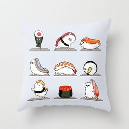 Sushi Yoga Throw Pillow