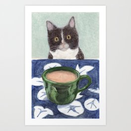 Coffee with Henry #4 Art Print
