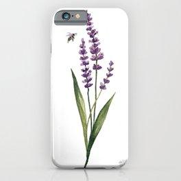 Watercolor Lavender iPhone Case
