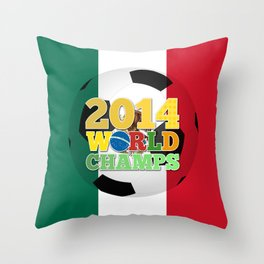 2014 World Champs Ball - Mexico Throw Pillow