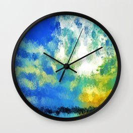 feathered horizon Wall Clock