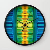 waterfall Wall Clocks featuring Waterfall by Bruce Stanfield