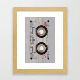 Cassette Transparent Framed Art Print