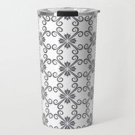 Grey Swirl Pattern Travel Mug