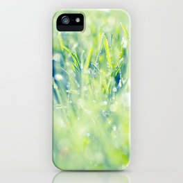 SPARKLING GRASS iPhone Case
