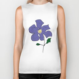 sketch of an indigo flower Biker Tank