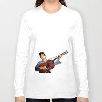bob dylan Long Sleeve T-shirts featuring Bob Dylan by Derek Donovan