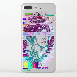 Aphrodite glitch Clear iPhone Case