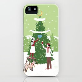 Decorating a tree iPhone Case