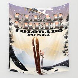 Clear Creek Colorado Ski Wall Tapestry